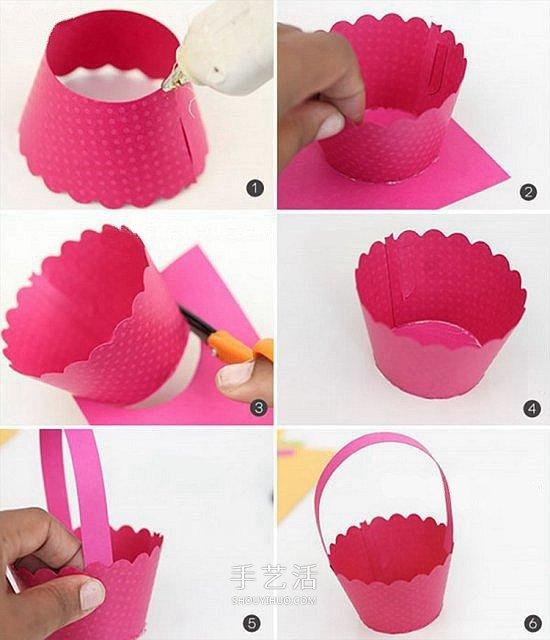 小花籃的最簡單做法 手工卡紙怎麼做花籃圖解