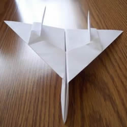 F-14野猫战斗机的折法 手工折纸F14战斗机图解