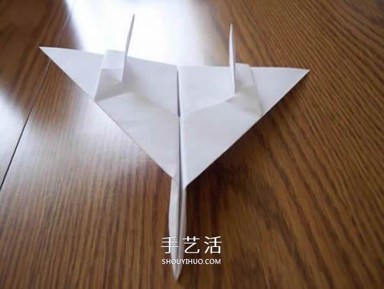 F-14野猫战斗机的折法 手工折纸F14战斗机图解 -  www.shouyihuo.com