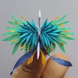 超越折纸的境界 仿佛化身孔雀凤凰的纸鹤们!