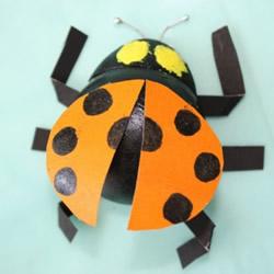 幼儿园制作七星瓢虫 乒乓球做瓢虫的方法