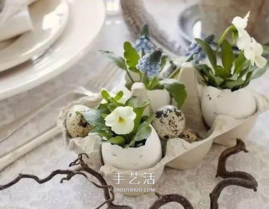 雞蛋殼怎麼做花盆圖片 帶來插花般的藝術美感