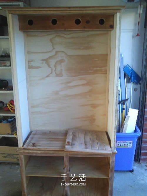 旧书柜改造鸟柜的过程 自制木头鸟柜的方法 -  www.shouyihuo.com