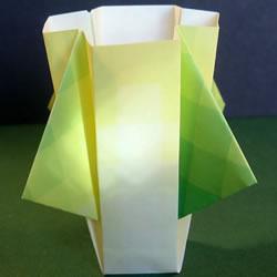 手工花瓶的折法图解 详细折花瓶教程步骤