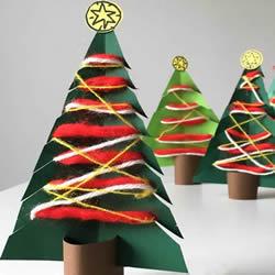 卡纸做圣诞树的简单方法 幼儿手工制作圣诞树