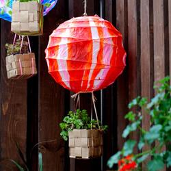 热气球花篮的制作方法 自制创业花篮DIY图解