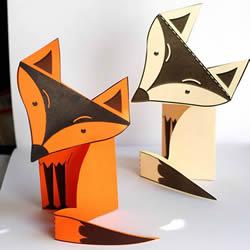 简单剪纸狐狸的做法 幼儿手工制作狐狸带图纸