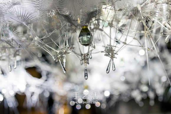 被冻结的魔法冰束 巨型亚克力仿雪花结晶装置 -  www.shouyihuo.com