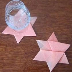 手工六角星杯垫的折法 简单星星杯垫怎么折