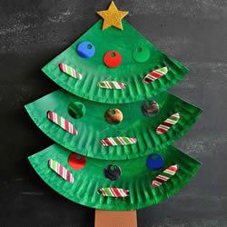 圣诞节餐盘圣诞树做法 幼儿手工圣诞树小制作