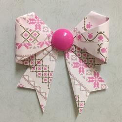 彩纸折蝴蝶结的方法 漂亮蝴蝶结手工折纸图解