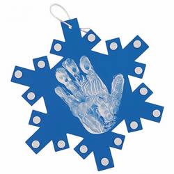 简单雪花挂饰手工制作 卡纸雪花的做法图解