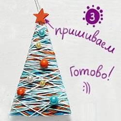 最简单圣诞树的做法 幼儿手工制作毛线圣