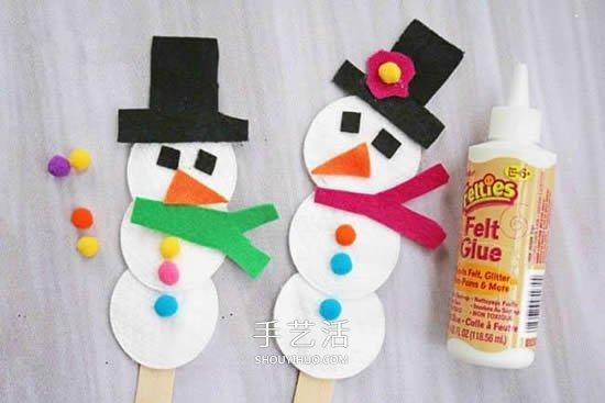 簡單又可愛雪人的做法 幼兒手工製作聖誕雪人