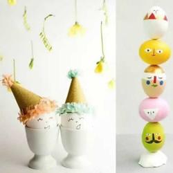 画蛋壳的可爱图片大全 创意蛋壳手工制作作品