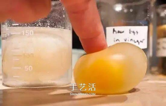 趣味小实验:用醋溶解掉鸡蛋壳的方法 -  www.shouyihuo.com