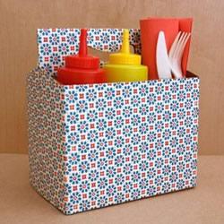 废旧纸箱做收纳箱教程 简易收纳纸箱DI