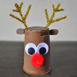 圣诞节驯鹿的制作方法 幼儿做纸杯驯鹿的教程