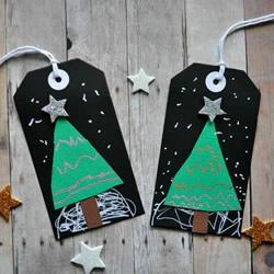 圣诞礼物装饰标签DIY 漂亮的圣诞树标签制作
