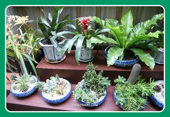旧的原木床架改造利用 DIY制作花架的过程 -  www.shouyihuo.com