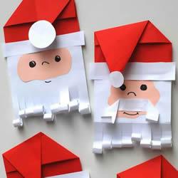 纸圣诞老人手工制作 卡通圣诞老人做法图