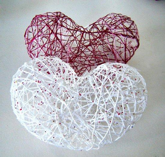 情人節鏤空的心DIY 簡單立體愛心裝飾製作