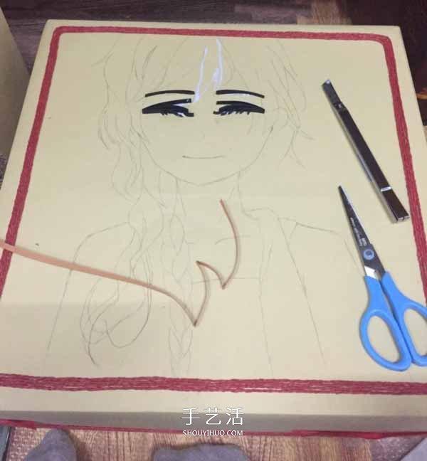 简单的人物衍纸画教程 衍纸制作卡通人物图解 -  www.shouyihuo.com