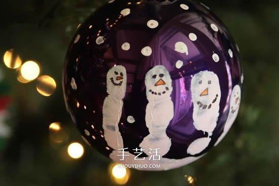独一无二圣诞球做法 自制雪人圣诞球挂饰教程 -  www.shouyihuo.com