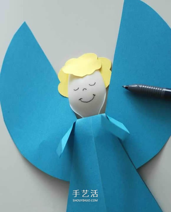 一次性勺子做小天使 聖誕節可愛天使手工製作
