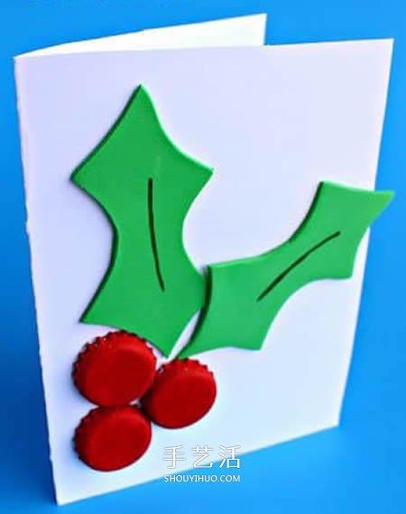 啤酒瓶蓋廢物利用 做一張超簡單的聖誕節卡片