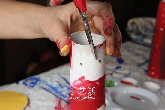 卫生纸筒手工制作蜡烛 幼儿园圣诞节蜡烛做法 -  www.shouyihuo.com