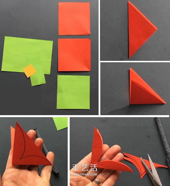 剪纸制作圣诞花的方法 圣诞节圣诞花装饰DIY -  www.shouyihuo.com