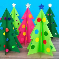 简单卡纸圣诞树怎么做 可爱纸圣诞树的做法