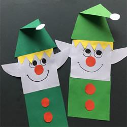 圣诞精灵挂饰手工制作 卡纸剪贴做圣诞小精灵