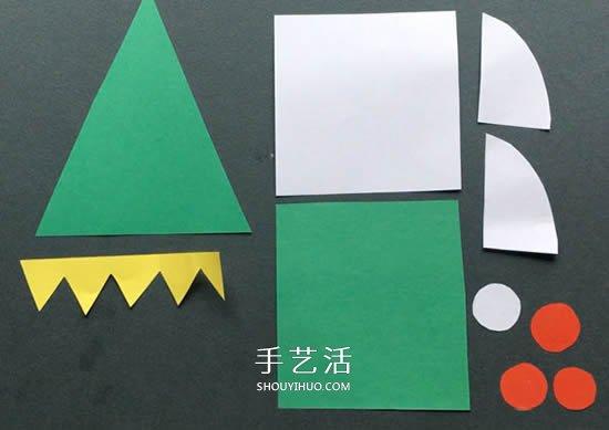 聖誕精靈掛飾手工製作 卡紙剪貼做聖誕小精靈