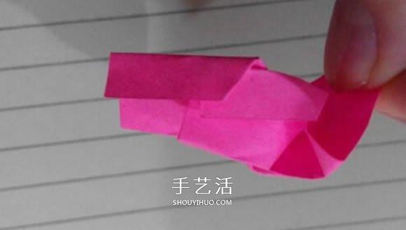 最简单纸玫瑰花的折法 怎么折简单漂亮的玫瑰 -  www.shouyihuo.com