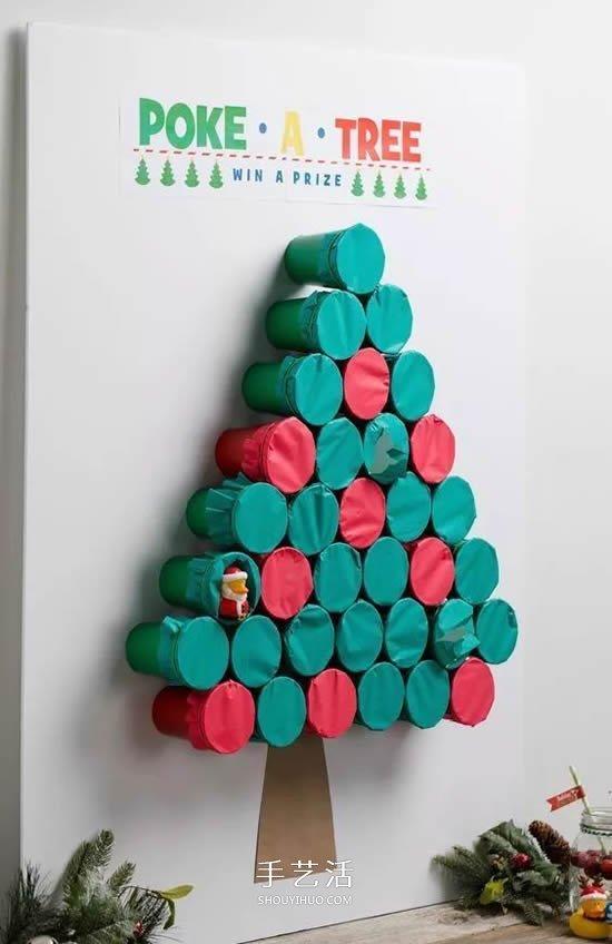 内藏礼物的圣诞树diy 创意纸杯圣诞树制作 手艺活网