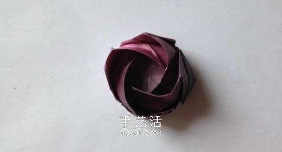 川崎玫瑰的经典折法图解 怎么折川崎玫瑰花教程 -  www.shouyihuo.com