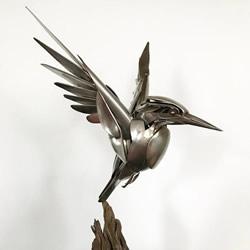 竟然是用勺子做的 精致的小鸟雕塑金沙品