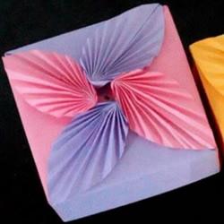 树叶纸盒的折法图解 带叶子盖子折纸方法