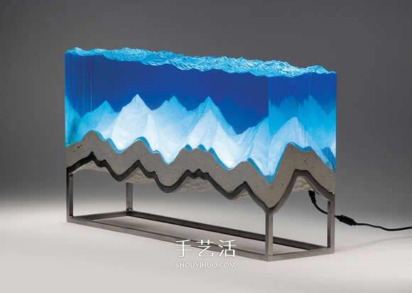 利用手工切割玻璃 模拟出澄澈的水中世界 -  www.shouyihuo.com