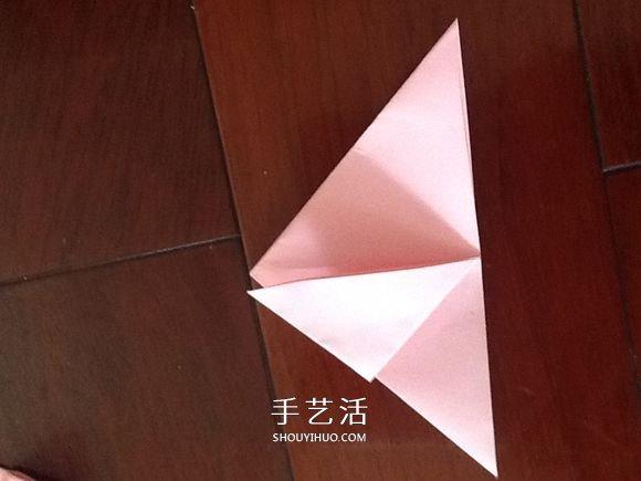 小清新旋转玫瑰的折法 带图解和实拍步骤 -  www.shouyihuo.com