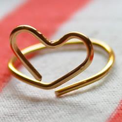 送女友的小礼物 利用金属丝做一枚爱心戒指