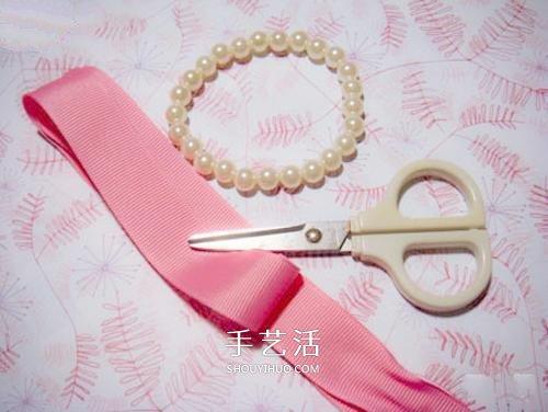 超簡單珍珠手鏈DIY 用緞帶給手鏈配個蝴蝶結