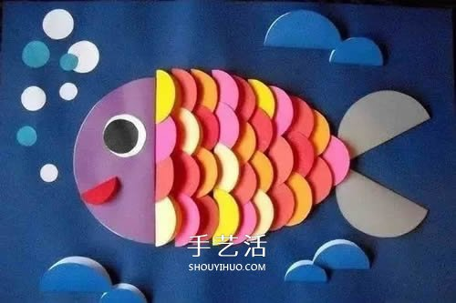 幼兒園手工小製作 各種可愛小魚的簡單做法