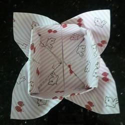 特色纸盒的折法图解 折一个四叶草盒子的教程