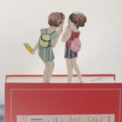 手工刺绣布艺书签制作 可爱的小女孩书签DIY