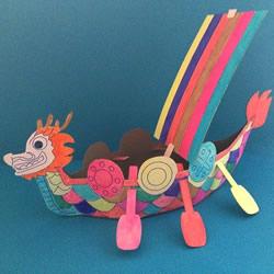 幼儿园手工龙舟的做法 硬纸板做龙舟图解教程