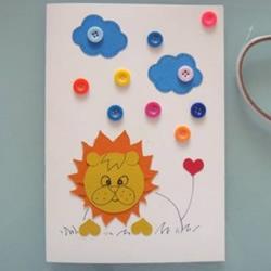简单又可爱的儿童节卡通贺卡手工制作教程