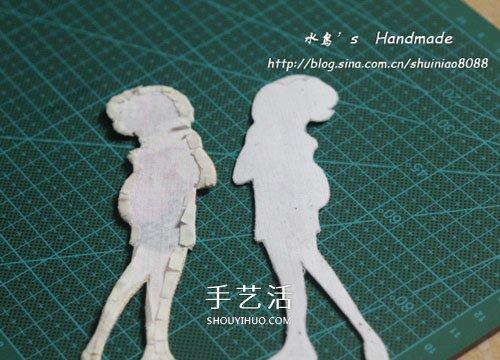手工刺繡布藝書籤製作 可愛的小女孩書籤DIY